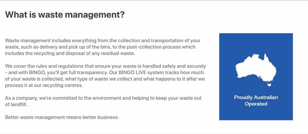 Bingo-waste-management